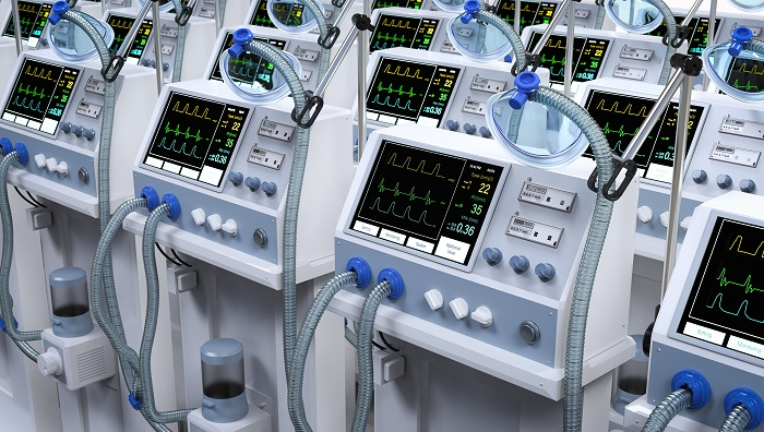 Group of ventilator machines